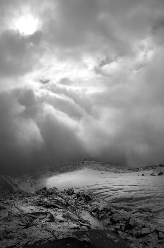 Glacier région d'Orny, depuis la cabane d'Orny, Valais, Suisse.