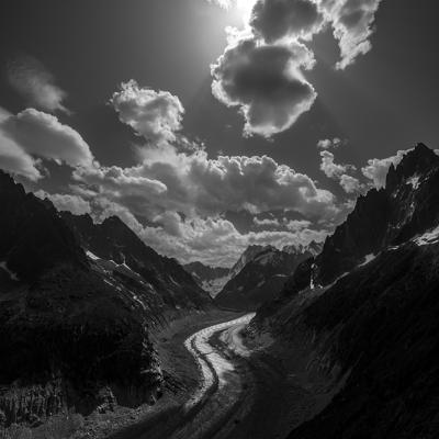 Mountains in Black & White