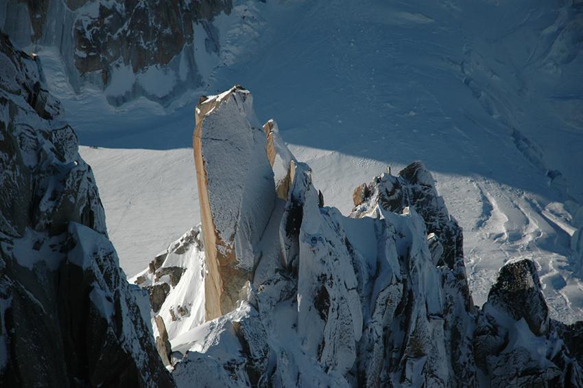Arête des Cosmiques, Chamonix, France.